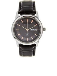 Barbour Gosforth Embossed Leather Strap Watch Black