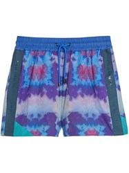 Burberry Tie Dye Shorts Pink And Purple