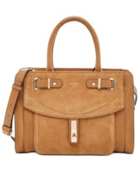 Guess Kingsley Small Satchel Cognac