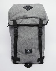 Asos Hiker Backpack In Grey Black