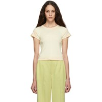 Eckhaus Latta Off White And Pink Ombre Edge Lapped Baby T Shirt