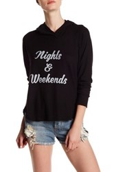 Project Social T Night And Weekends Front Graphic Print Hoodie Black