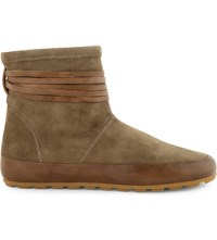 Isabel Marant Minsi Suede Booties Taupe
