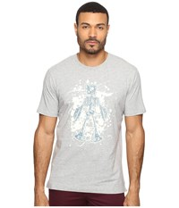 Robert Graham Skeleton Robot T Shirt Heather Grey Men's T Shirt Gray