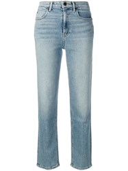 Alexander Wang T By Cropped Straight Leg Jeans Blue