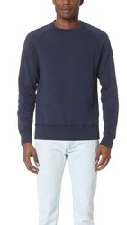 Velva Sheen Crew Neck Sweatshirt Navy