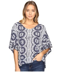 Roxy Koggala Kimono Kiki Daze Blue Print Women's Clothing Gray
