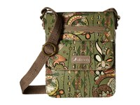 Sakroots Artist Circle Small Flap Messenger Olive Spirit Desert Cross Body Handbags Gray