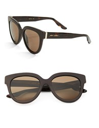 Brian Atwood 52Mm Square Sunglasses Brown Brown