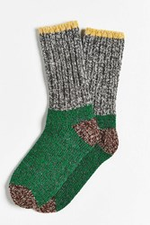 Woolrich Heel Toe Crew Sock Brown