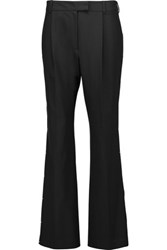 Zac Posen Embellished Stretch Cady Wide Leg Pants Black
