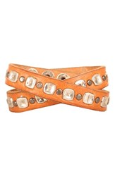 Men's Will Leather Goods Studded Wrap Cuff Tan