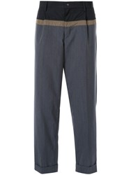 Kolor Colour Block Tailored Trousers Grey