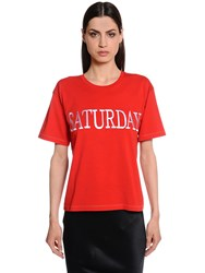 Alberta Ferretti Saturday Slim Fit Cotton Jersey T Shirt