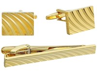 Stacy Adams Cuff Link And Tie Bar Set Gold Cuff Links