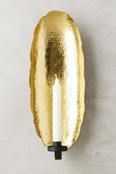 Anthropologie Hammered Candle Sconce Gold