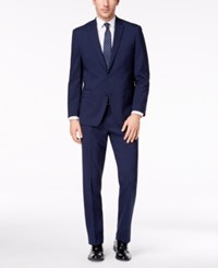 Michael Kors Men's Classic Fit Blue Check Suit