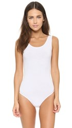 Yummie Tummie By Heather Thomson Ruby Scoop Neck Bodysuit White
