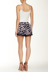 Lush Printed Scalloped Lace Short Multi