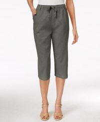 Karen Scott Drawstring Capri Pants Only At Macy's Olive Vine