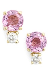 Jemma Wynne Women's Pink Sapphire And Diamond Stud Earrings