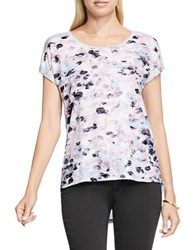 Vince Camuto Dreamy Reflections Burnout Tee Purple
