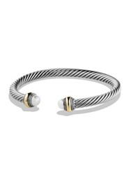 David Yurman Cable Classics Bracelet With Pearl And Gold Silver