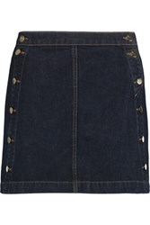 J Brand Ashlyn Denim Mini Skirt Dark Denim