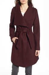 Guess Women's Wrap Trench Coat Wine