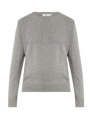 Inis Meain City Cotton Cashmere And Silk Blend Sweater Light Grey