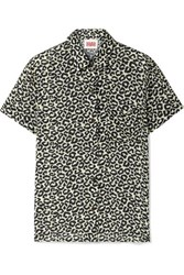Solid And Striped Cabana Leopard Print Voile Shirt Leopard Print