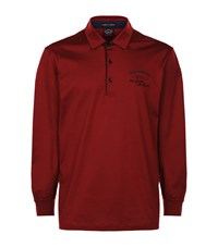 Paul And Shark Knit Polo Shirt Red