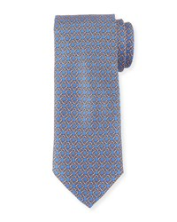 Neiman Marcus Boxed Chain Pattern Silk Tie Royal