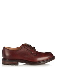 Cheaney Teign 2 Grained Leather Derby Shoes Burgundy