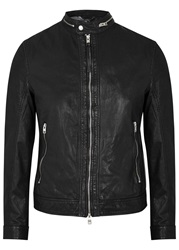 J. Lindeberg Trey 56 Sleek Black Leather Jacket