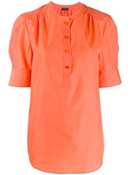 Joseph Short Sleeve Shift Blouse Orange
