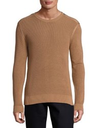 The Kooples Slim Fit Cotton Sweater Camel Red