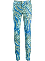 Just Cavalli Two Tone Skinny Jeans Green