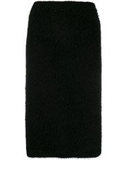 Versace Midi Knitted Pencil Skirt Black