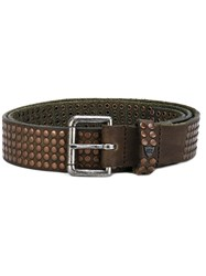 Htc Hollywood Trading Company Cintura Belt Unisex Leather 85 Green
