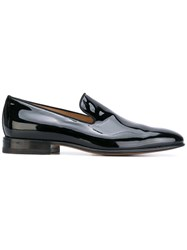 Carvil Biarritz Loafers Men Leather Patent Leather 40 Black