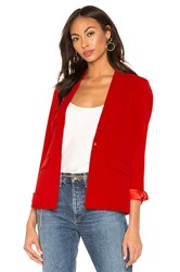 Central Park West X Revolve Blazer Red