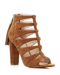 Marc Fisher Ltd. Hindera Caged High Heel Sandals Natural