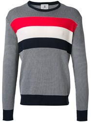 Kent And Curwen Striped Jumper Grey
