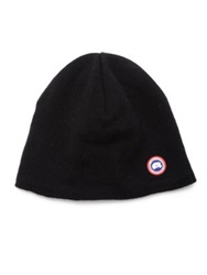 Canada Goose Merino Wool Beanie Red Black