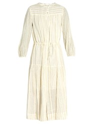 Isabel Marant Toile Cotton Blend Striped Dress