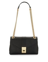 Calvin Klein Saffiano Leather Shoulder Bag Black