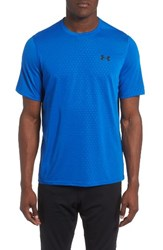 Under Armour Men's Threadborne Siro Regular Fit T Shirt Blue Marker Black