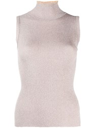 Missoni Ribbed Tank Top Pink