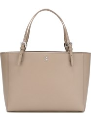 Tory Burch 'York Buckle' Tote Grey